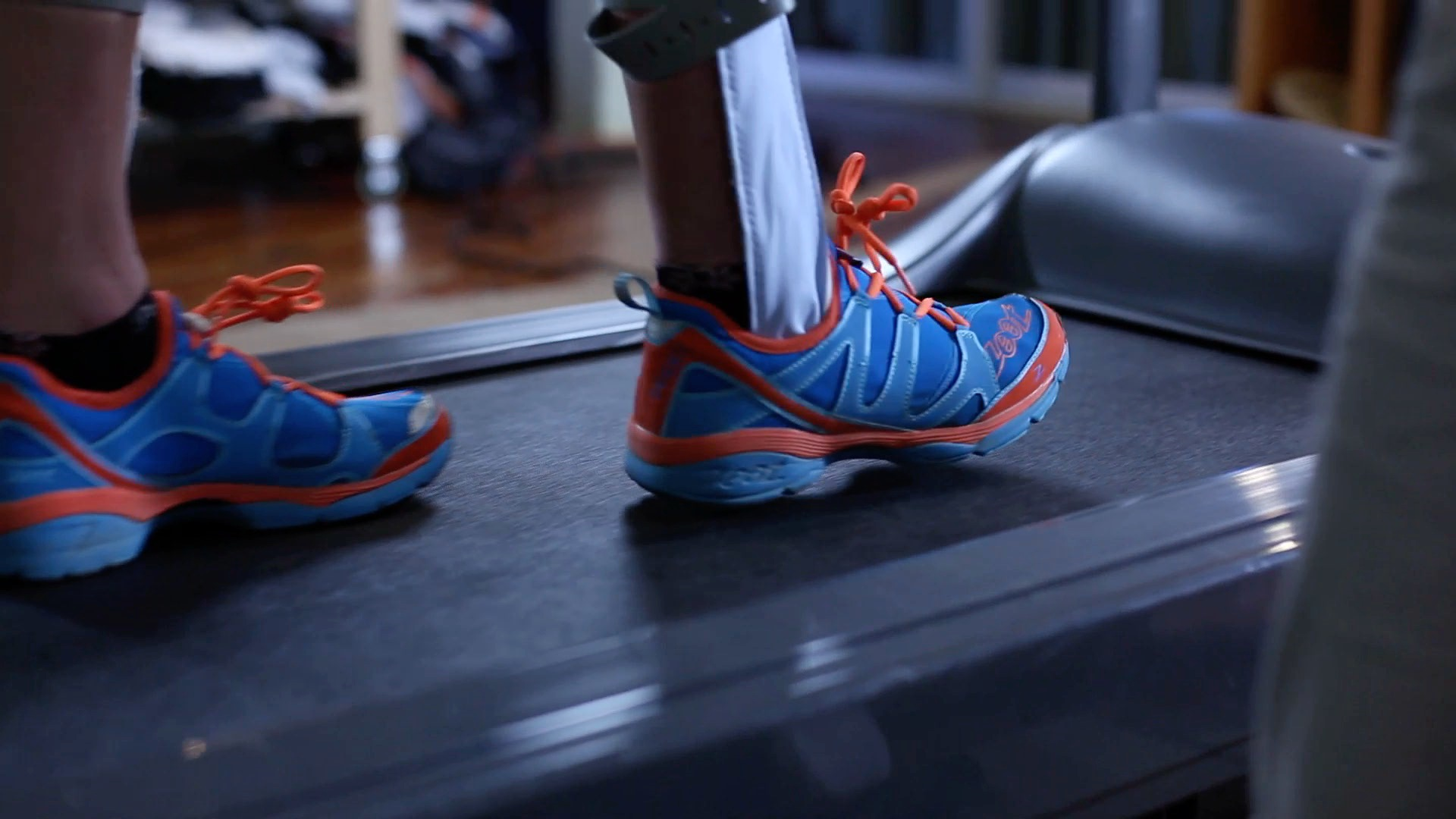 Force Pads on Treadmill