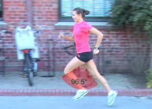 An example of stride angle